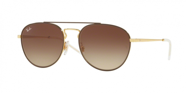RAY-BAN RB3589 style-color 905513 Gold Top ON Brown