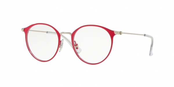 RAY-BAN RY1053 style-color 4066 Silver ON Top Red