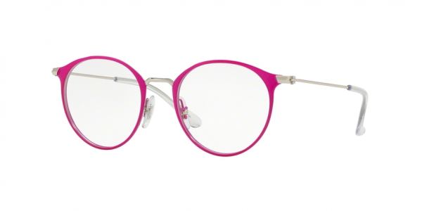 RAY-BAN RY1053 style-color 4067 Silver ON Top Fuxia