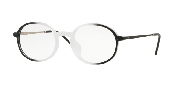 RAY-BAN RX7153F ASIAN FIT style-color 5789 Trasparent ON Top Black