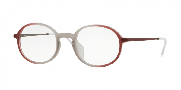RAY-BAN RX7153F ASIAN FIT style-color 5792 Rubber Brown ON Bordeaux Grad