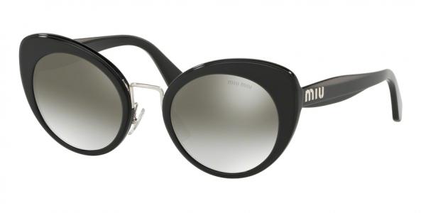 MIU MIU MU 06TS style-color 16E5O0 Black Top Opal Grey