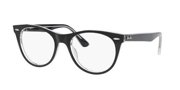RAY-BAN RX2185VF ASIAN FIT style-color 2034 Top Black ON Transparent
