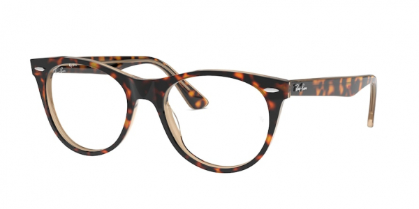 RAY-BAN RX2185VF ASIAN FIT style-color 5989 Havana ON Top Trasp Brown