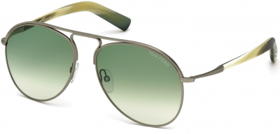 TOM FORD CODY FT0448 style-color 14P - shiny light ruthenium / gradient green