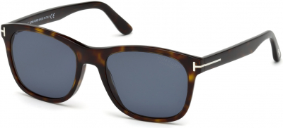 TOM FORD FT0595-F ASIAN FIT 5961 style-color 52D Dark Havana / Smoke Polarized