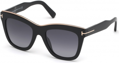 TOM FORD FT0685 JULIE style-color 01C Shiny Black / Smoke Mirror