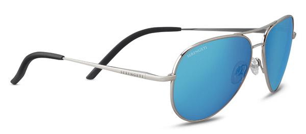 SERENGETI CARRARA SMALL style-color 8553 SHINY SILVER / MINERAL POLARIZED 555NM BLUE