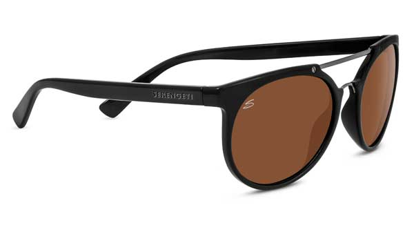 SERENGETI LERICI style-color 8350 SHINY BLACK/SHINY DARK GUNMETAL / MINERAL POLARIZED DRIVERS