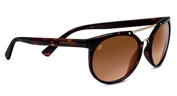 SERENGETI LERICI style-color 8352 SHINY TORTOISE/SATIN SOFT GOLD / MINERAL DRIVERS GRADIENT
