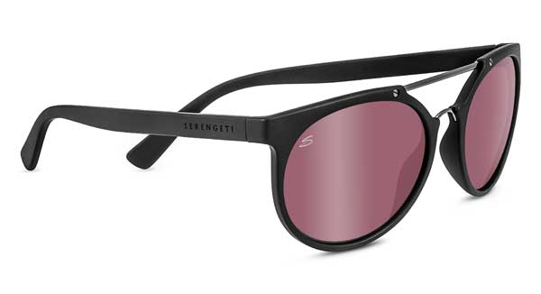 SERENGETI LERICI style-color 8358 SATIN BLACK / SHINY DARK GUNMETAL / MINERAL POLARIZED SEDONA BI MIRROR