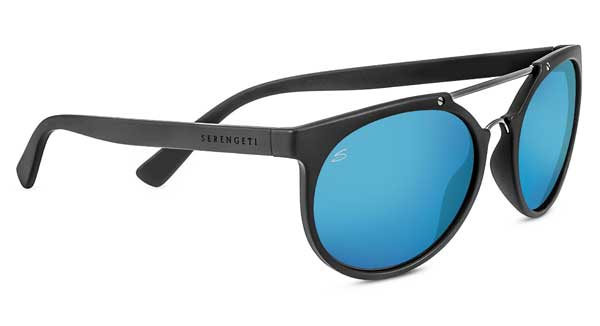 SERENGETI LERICI style-color 8354 SANDED DARK GREY/SATIN DARK GUNMETAL / MINERAL POLARIZED 555NM BLUE