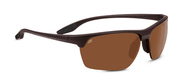 SERENGETI LINOSA style-color 8509 SANDED DARK BROWN / PHD 2.0 POLARIZED DRIVERS