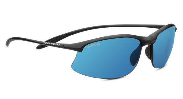 SERENGETI MAESTRALE style-color 8696 SATIN BLACK / PHD 2.0 POLARIZED 555NM BLUE
