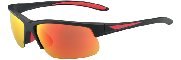 BOLLE BREAKER style-color 12108 MATTE BLACK/RED / HD POLARIZED BROWN FIRE
