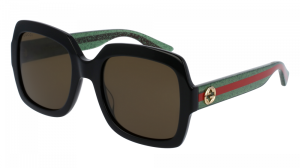GUCCI GG0036S style-color Black/GREEN 002 / Brown None Lens