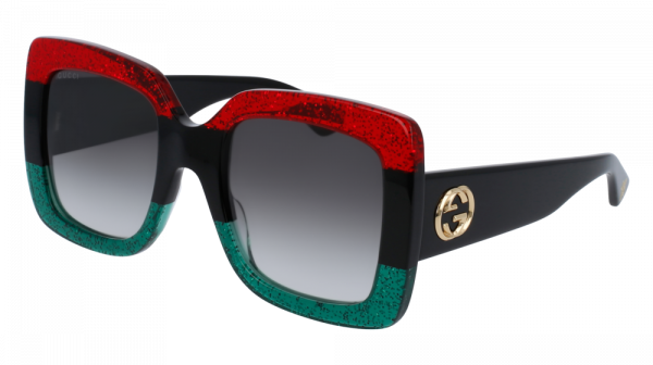 GUCCI GG0083S style-color Red/BLACK 001 / Grey Gradient Lens
