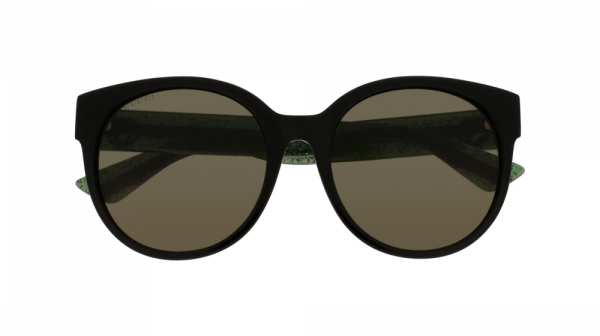 GUCCI GG0035SA ASIAN FIT style-color Black/GREEN 002 / Green None Lens