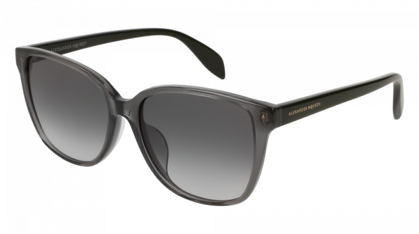 ALEXANDER MCQUEEN AM0145SA ASIAN FIT style-color Grey/BLACK 001 / Grey Gradient Lens