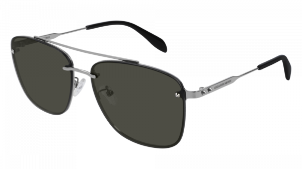 ALEXANDER MCQUEEN AM0184SK style-color Ruthenium 001 / Grey None Lens