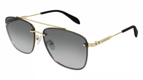 ALEXANDER MCQUEEN AM0184SK style-color Gold 004 / Grey Gradient Lens