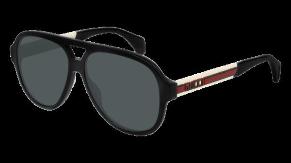 GUCCI GG0463S style-color Black/WHITE 002 / Grey None Lens
