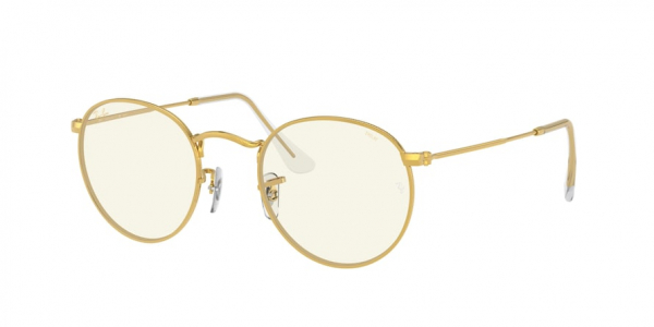 RAY-BAN RB3447 ROUND METAL style-color 9196BL Legend Gold / photo grey/blue light filter Lens