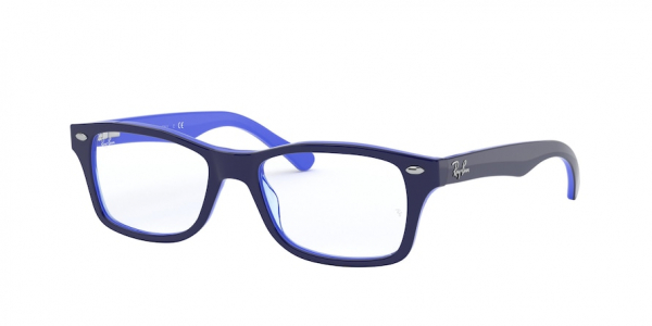 RAY-BAN RY1531 style-color 3839 Top Opal Blue / Transp Light Blu