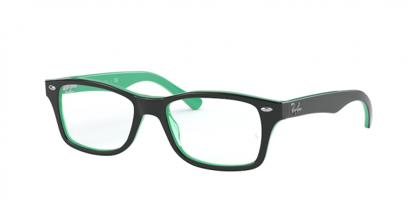 RAY-BAN RY1531 style-color 3841 Top Opal Green / Transp Green