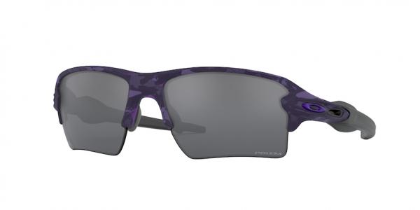 OAKLEY FLAK 2.0 XL OO9188 style-color 9188F4 Electric Purple Shadow Camo / prizm black Lens