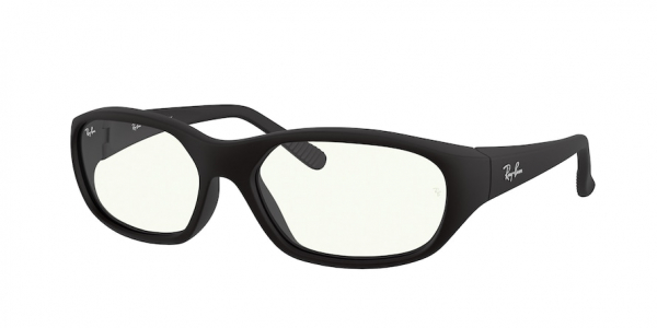 RAY-BAN RB2016 DADDY-O style-color 601SBF Matte Black / clear/blue light filter Lens