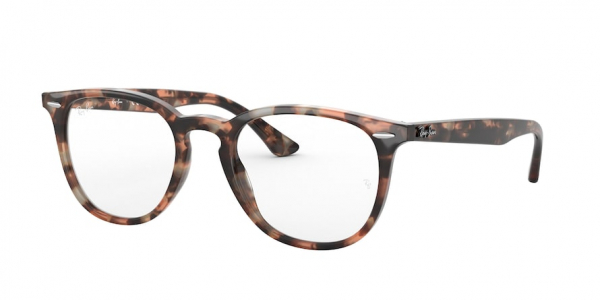 RAY-BAN RX7159F ASIAN FIT style-color 8064 Shiny Pink Havana