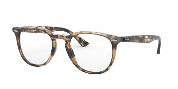 RAY-BAN RX7159F ASIAN FIT style-color 8065 Shiny Brown Havana