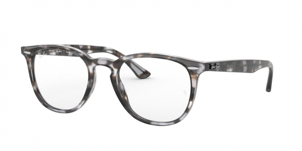 RAY-BAN RX7159F ASIAN FIT style-color 8066 Shiny Grey Havana