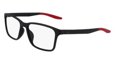 NIKE 7117 style-color (006) Matte Black / Gym Red