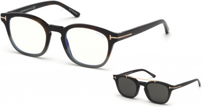 TOM FORD FT5532-B 34251 style-color 55A Coloured Havana / Smoke