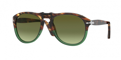 PERSOL PO0649 style-color 1122A6 Striped Brown / Transp Green / green gradient brown Lens
