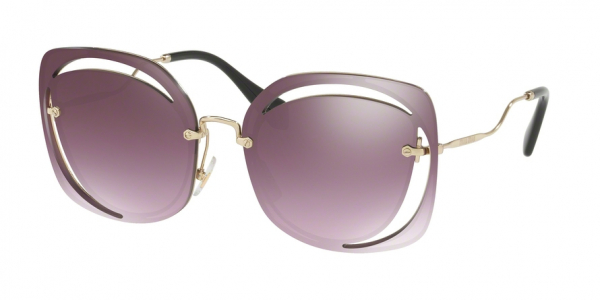 MIU MIU MU 54SS CORE COLLECTION style-color ZVNAD6 Pale Gold / gradient violet mirror silver Lens