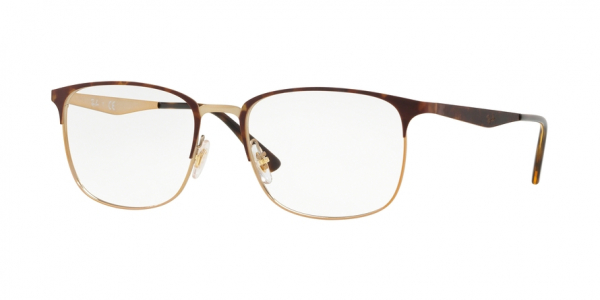 RAY-BAN RX6421 style-color 3001 Pink Gold ON Top Havana