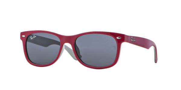 RAY-BAN RJ9052S JUNIOR NEW WAYFARER style-color 177/87 Top Red Fuxia ON Gray / grey Lens