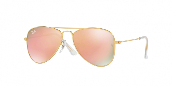 RAY-BAN RJ9506S JUNIOR AVIATOR style-color 249/2Y Matte Gold / copper flash Lens
