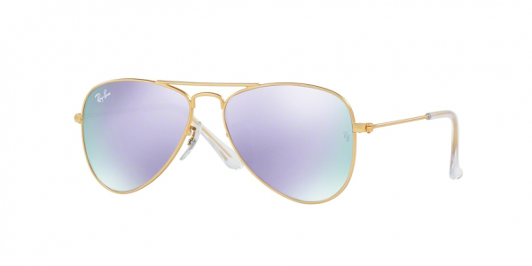 RAY-BAN RJ9506S JUNIOR AVIATOR style-color 249/4V Matte Gold / lillac flash Lens