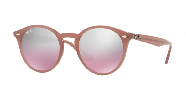 RAY-BAN RB2180 style-color 62297E Opal Antique Pink / pink mirror silver grad Lens