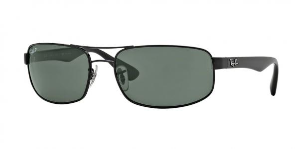 RAY-BAN RB3445 style-color 002/58 Black / dark green polar Lens