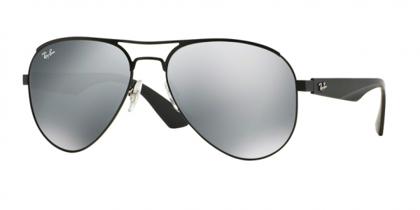 RAY-BAN RB3523 style-color 006/6G Matte Black / gray silver mirror Lens