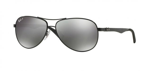 RAY-BAN RB8313 CARBON FIBRE style-color 002/K7 Shiny Black / grey mirror black polar Lens