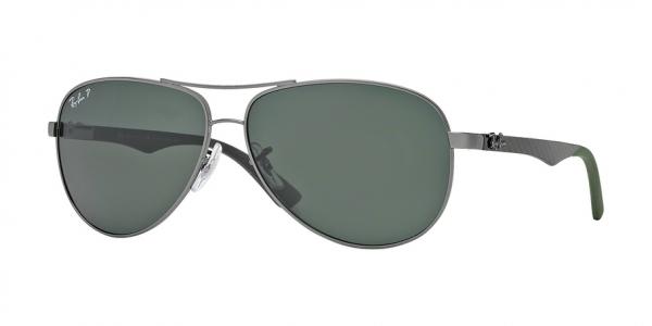 RAY-BAN RB8313 CARBON FIBRE style-color 004/N5 Gunmetal / polar green ar Lens