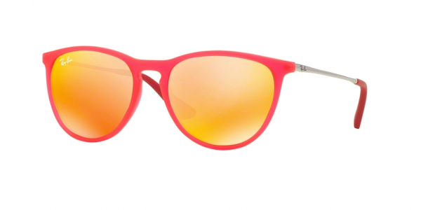 RAY-BAN RJ9060S style-color 70096Q Fuxia Fluo Trasp Rubber / brown mirror orange Lens