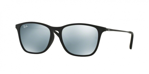 RAY-BAN RJ9061SF ASIAN FIT style-color 700530 Rubber Black / green mirror silver Lens
