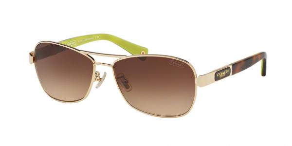 COACH HC7012 L038 CAROLINE style-color 910013 Gold / Tortoise / brown gradient Lens